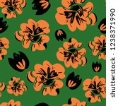 hand drawn flowers pattern... | Shutterstock .eps vector #1238371990