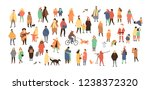crowd of tiny people dressed in ... | Shutterstock . vector #1238372320