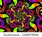 a hand drawing pattern made of... | Shutterstock . vector #1238379046
