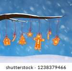 christmas background with... | Shutterstock . vector #1238379466