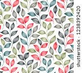 packaging tea leaves pattern... | Shutterstock .eps vector #1238392420