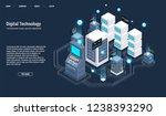 isometric server room and big... | Shutterstock .eps vector #1238393290