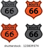 set of four signs of route | Shutterstock .eps vector #123839374