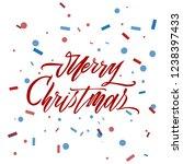 merry christmas text vector on... | Shutterstock .eps vector #1238397433