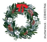 christmas decoration wreath ... | Shutterstock .eps vector #1238401966