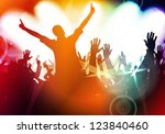 concert crowd in front of stage | Shutterstock . vector #123840460