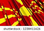 abstract flag of macedonia. 3d... | Shutterstock . vector #1238411626