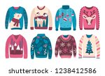 bundle of ugly christmas... | Shutterstock . vector #1238412586