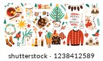 collection of christmas... | Shutterstock . vector #1238412589