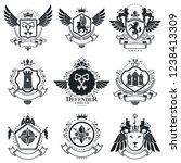 heraldic designs  vector...   Shutterstock .eps vector #1238413309