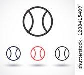 tennis vector icon 10 eps | Shutterstock .eps vector #1238415409