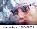 a futuristic doctor with... | Shutterstock . vector #1238420659
