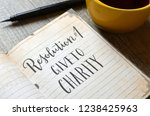 resolution no. 1   give to...   Shutterstock . vector #1238425963