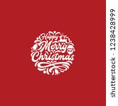 typography holiday merry... | Shutterstock .eps vector #1238428999
