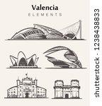 Set Of Hand Drawn Valencia...