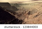 Cratered Mars Canyon Viewed...