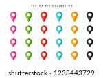location pin. map pin flat icon ... | Shutterstock .eps vector #1238443729