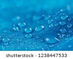 water drops on waterproof nylon ...   Shutterstock . vector #1238447533