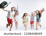 happiness group of cute and... | Shutterstock . vector #1238448049