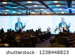 panel on stage during... | Shutterstock . vector #1238448823