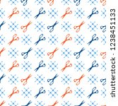 seamless pattern with scissors. ... | Shutterstock .eps vector #1238451133