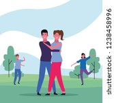 dancing couple avatar | Shutterstock .eps vector #1238458996
