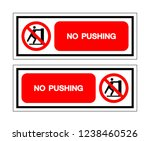 no pushing symbol sign  vector... | Shutterstock .eps vector #1238460526