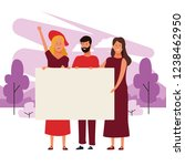 people with posters   Shutterstock .eps vector #1238462950