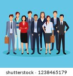 executive men cartoon | Shutterstock .eps vector #1238465179