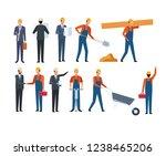 construction set worker and... | Shutterstock .eps vector #1238465206