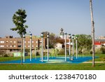 empty outdoor gym workout space ... | Shutterstock . vector #1238470180