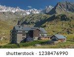 franz senn hutte  2 147 m asl ... | Shutterstock . vector #1238476990