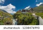 franz senn hutte  2 147 m asl ... | Shutterstock . vector #1238476993