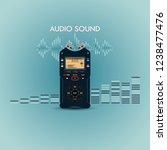 audio recorder for recording... | Shutterstock . vector #1238477476