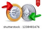 ethereum to euro currency... | Shutterstock .eps vector #1238481676