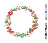 winter time handwritten... | Shutterstock . vector #1238483923