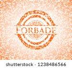 forbade orange mosaic emblem | Shutterstock .eps vector #1238486566