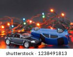 collision two cars on christmas ... | Shutterstock . vector #1238491813