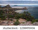 view of cape kapchik and tsar's ... | Shutterstock . vector #1238493436