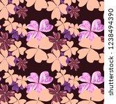 floral seamless pattern. pink...   Shutterstock . vector #1238494390