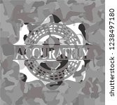 accurately grey camo emblem | Shutterstock .eps vector #1238497180