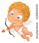 funny little cupid aiming at...