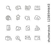 search related icons  thin... | Shutterstock .eps vector #1238544643