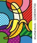 modern pop art banana...   Shutterstock .eps vector #1238544733