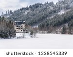 solitary hotel building in a...   Shutterstock . vector #1238545339