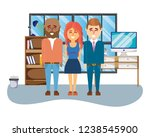 business coworkers executives... | Shutterstock .eps vector #1238545900