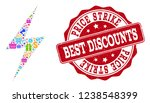 trading collage of discount... | Shutterstock .eps vector #1238548399
