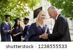 happy father congratulating... | Shutterstock . vector #1238555533