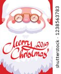 close up of santa claus face... | Shutterstock .eps vector #1238563783