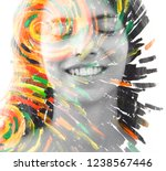 paintography. portrait... | Shutterstock . vector #1238567446